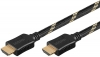 PRZEWÓD HDMI 1.0M WTYKx2 HIGH SPEED ETHERNET BLACK-GOLD